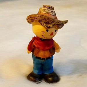 Vintage Resin Country Boy Figurine 1960's